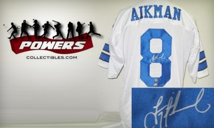 Powers Collectibles: $199 for Troy Aikman–Signed Dallas Cowboys Jersey from Powers Collectibles ($464 Value)