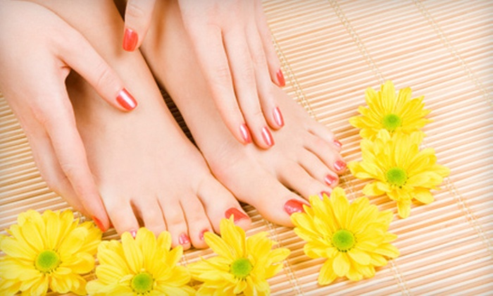 Rockstar Creation - Kennedale Industrial: Luxury or Gel Manicure-and-Steam-Pedicure Package at Rockstar Creations (Up to 61% Off)