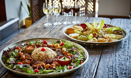 Two course shared banquet wine 1001 nights restaurant for 1001 nights persian cuisine groupon