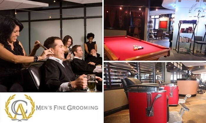 CA Men's Fine Grooming - Park Place: $30 for an Expert Haircut, Hot-Towel Treatment, Hand Detail, Shoeshine, and More at CA Men's Fine Grooming ($60 Value)