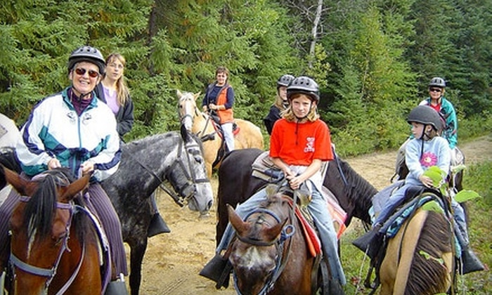 Wagonwheel Ranch - Val Therese: $17 for a One-Hour Horseback Trail Ride at Wagonwheel Ranch in Val Therese ($35 Value)