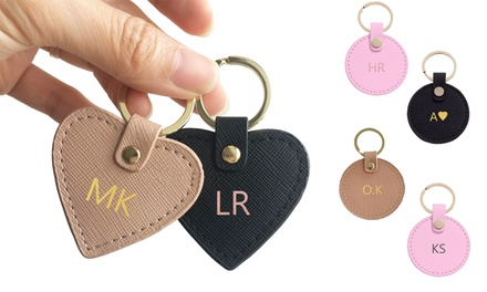$18 for a Monogrammed Genuine Leather Keyring (Don't Pay $49.95)