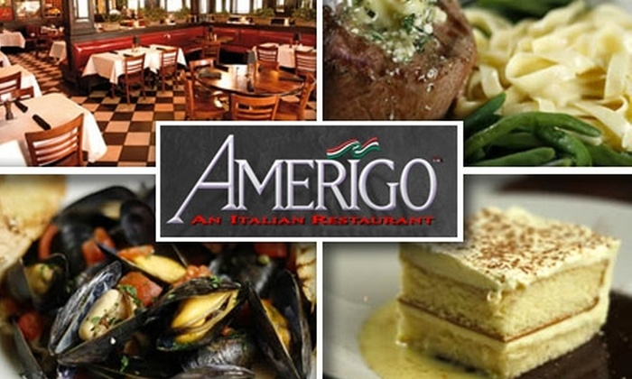 Amerigo - Multiple Locations: $20 for $40 Worth of New World Italian Fare at Amerigo. Choose One of Two Locations.