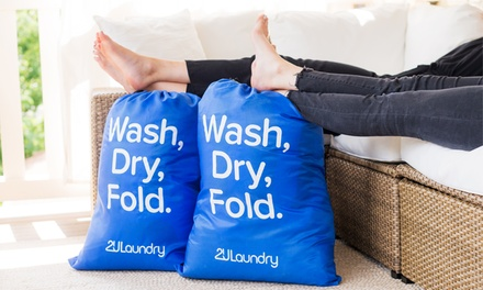 Laundry or Dry Cleaning with Free Pickup and Delivery from 2ULaundry (Up to 48% Off). Three Options Available.
