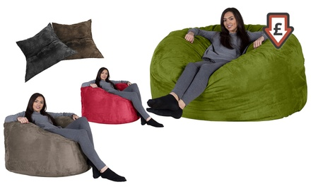 Pleasant Giant Memory Foam Beanbag In Faux Suede By Lounge Lizard For Andrewgaddart Wooden Chair Designs For Living Room Andrewgaddartcom
