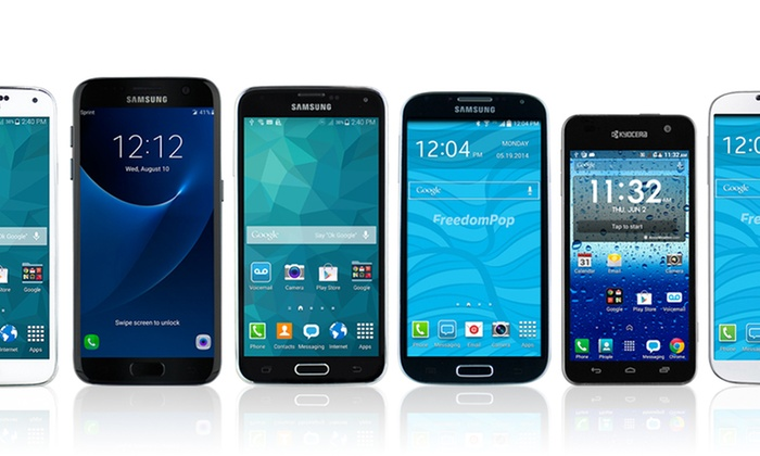 Samsung or Kyocera Smartphone with Free Cellular Service from FreedomPop (Certified Pre-Owned)