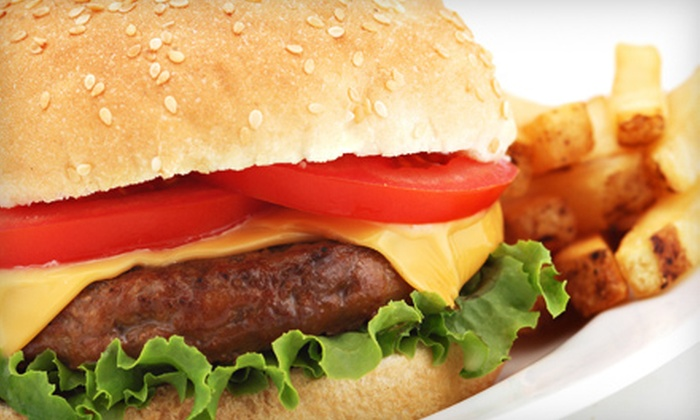 The Beer Garden - Castleton Corners: $15 for Appetizer Sampler and Two Burgers or Wraps at The Beer Garden in Staten Island (Up to $36 Value)