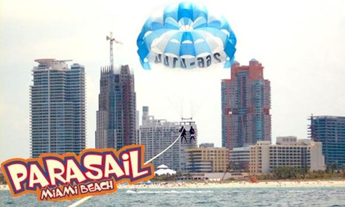 Miami Beach Parasail - Flamingo / Lummus: $75 for a Tandem Parasail Ride at Miami Beach Parasail