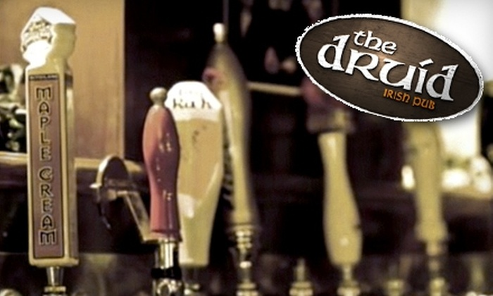 Edmonton Hospitality Group - Multiple Locations: $20 for $50 Worth of Irish Pub Fare and Pours at The Druid