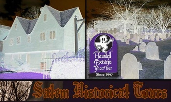 Salem Historical Tours - Salem: $7 for a Haunted Footsteps Ghost Tour from Salem Historical Tours ($14 Value)