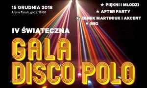 IV Świąteczna Gala Disco Polo: Od 35 zł: bilet na IV Świąteczną Galę Disco Polo w Hali Arena w Toruniu (do -33%)