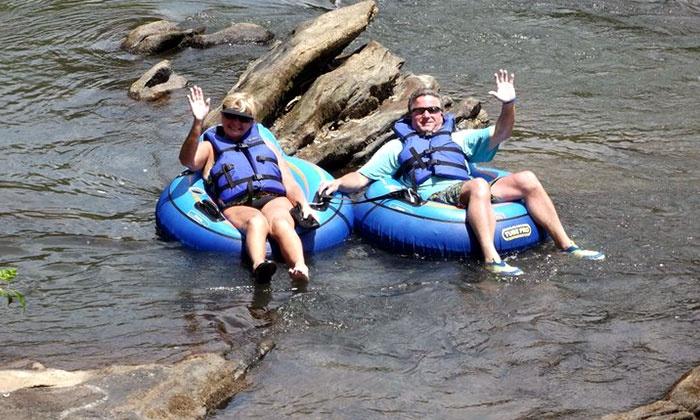 Saluda River Rafting Adventures - Easley East: Inner-Tube or Paddleboat Rental for Two at Saluda River Rafting Adventures (Half Off)