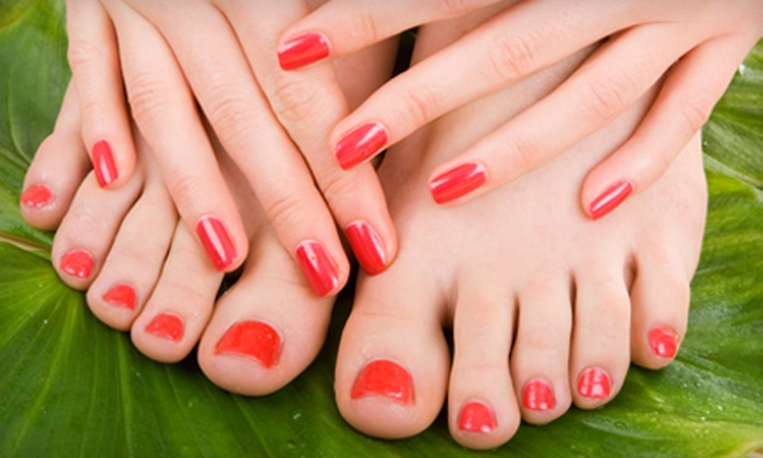 L'Europe Nails and Spa - Clermont: $35 for an Aromatherapy Mani-Pedi and Waxing at L'Europe Nails and Spa in Clermont