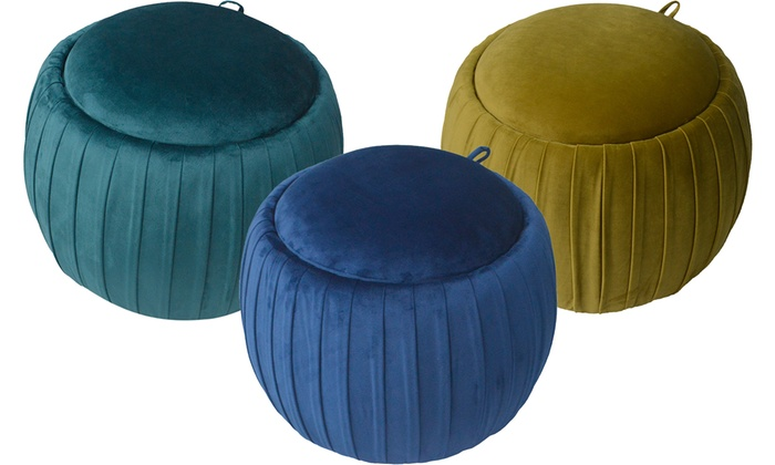 Bubble Ottoman Stool with Storage
