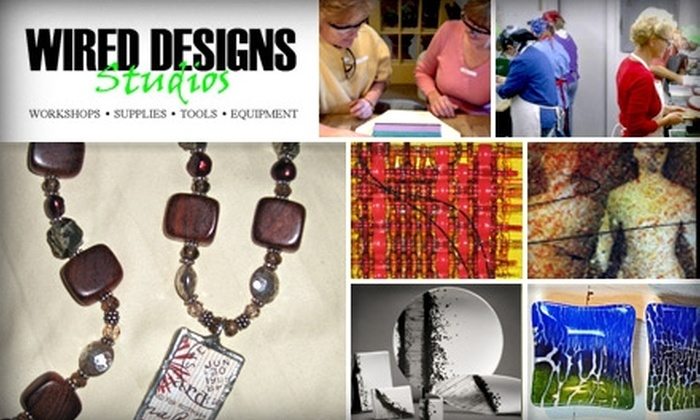 Wired Design Studios - Hill Country Village: $67 for an Introductory Stained Glass, Glass Fusing, Jewelry Soldering, or BRONZclay Class at Wired Design Studios (Up to $135 Value)