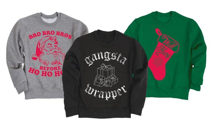Men's Christmas Humor Fleece Sweatshirts