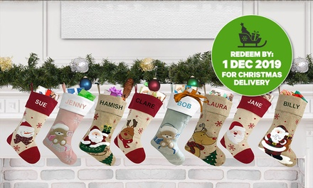 Personalised Christmas Stockings: One $12, Two $23, Three $33 or Four $40 Don't Pay up to $159.80