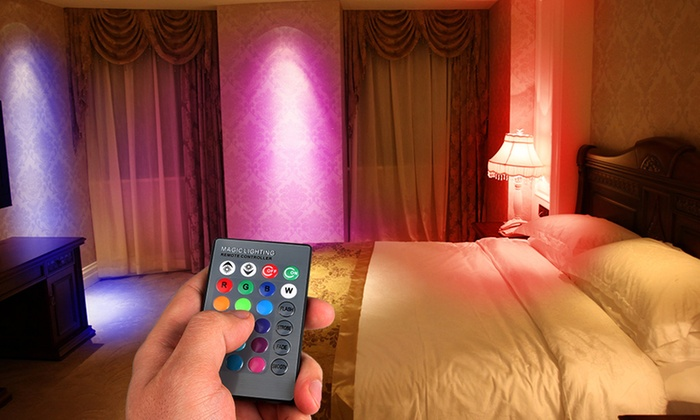 Magic Light LED Light Bulb with Remote Control (1 or 2-Pack)