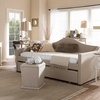 Prime Arched Back Sofa Daybed with Roll-Out Trundle Guest Bed