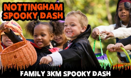 Nottingham 3KM Spooky Dash on 29 October at Holme Pierrepont National Watersports Centre