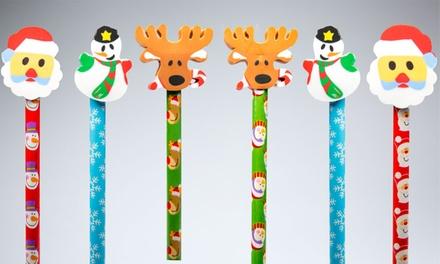 6 matite di Natale