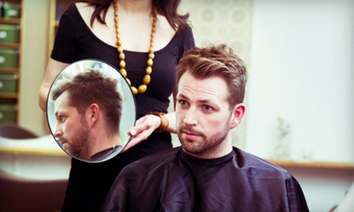 Just Teasin' Hair Studio - Tallmadge: One or Three Men's Haircuts with Tea-Tree Shampoo and Steamed Towel at Just Teasin' Hair Studio (Half Off)