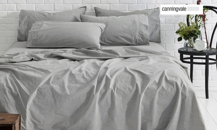 Canningvale Vintage Softwash Sheet Set: Single $69, Double $89, Queen $99 or King $109 Don't Pay up to $319.95