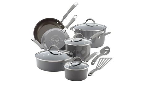 Rachael Ray Cucina Enamel Nonstick Cookware Set (12-Piece)