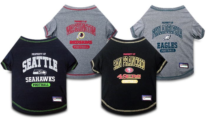 NFL Pet T-Shirts. Teams P–W Available.