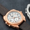 Reign Churchill Automatic Pro-Diver Distressed Leather Strap Watch