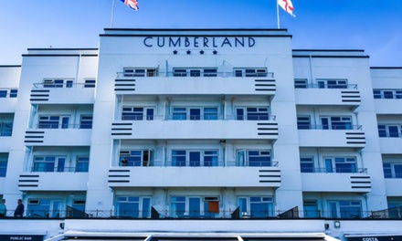 Bournemouth: Comfort Room for Two with Breakfast, Dinner, Wine, Scones and Spa Discount at The 4* Cumberland Hotel