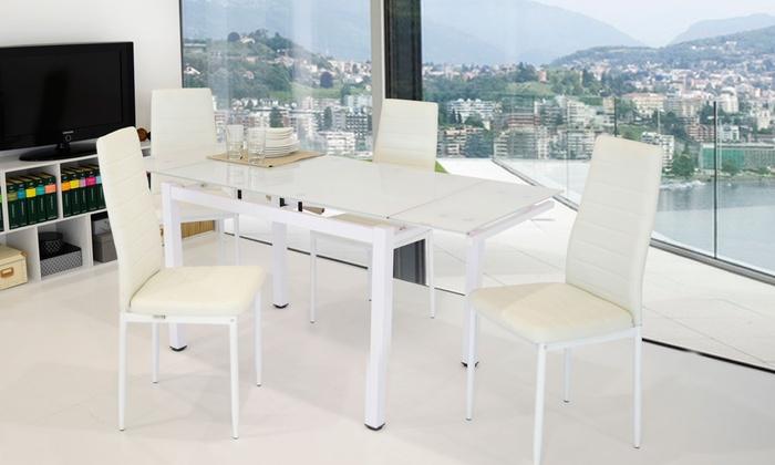 set tavolo soggiorno e 4 sedie groupon