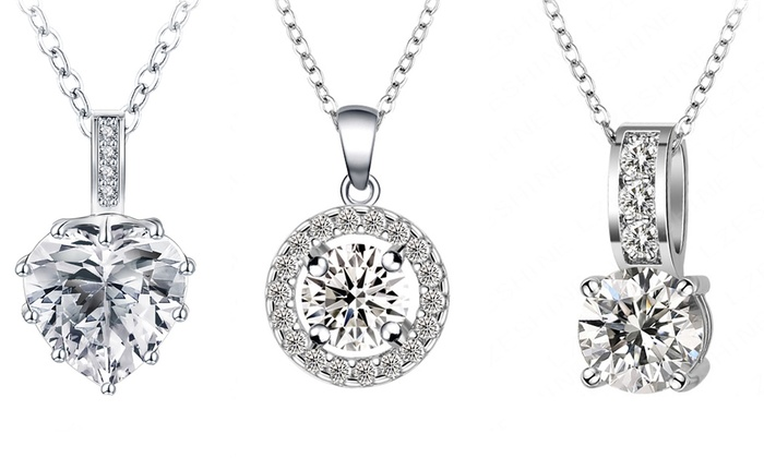 Fakurma UK - Merchandising (AE): Tri-Set, Heart Tri-Set or Halo Tri-Set Made with Swarovski Elements from AED 99 (Up to 92% Off)