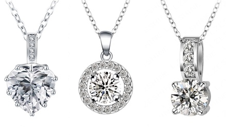 Tri-Set, Heart Tri-Set or Halo Tri-Set Made with Swarovski Elements from AED 99 (Up to 92% Off)