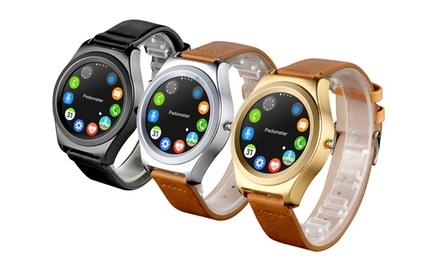 smartwatch montre connect e alpha avec capteur de fr quence cardiaque et tracker d activit. Black Bedroom Furniture Sets. Home Design Ideas