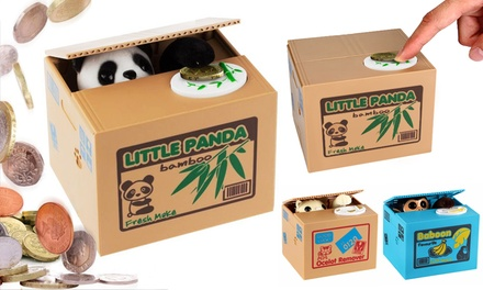 Mischief Cat, Panda or Monkey Money Box