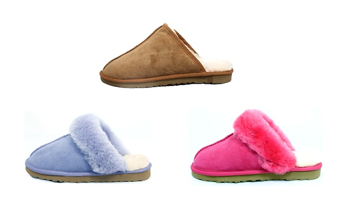 $39 for a Pair of Auzland Classic Scuff Slippers in Choice of Style and Colour (Don't Pay $119)