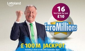 Lottoland: 16 EuroMillions Line Bets from Lottoland (69% Off)