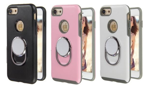 Cover per iPhone 6/6 Plus/7/7 Plus con anello magnetico e supporto per auto disponibile in vari colori
