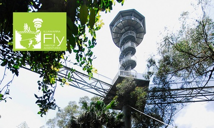 Illawarra Fly: Rainforest Treetop Walk + Meal & Drink Child $19 or Adult $25, Knights Hill Up to $42 Value