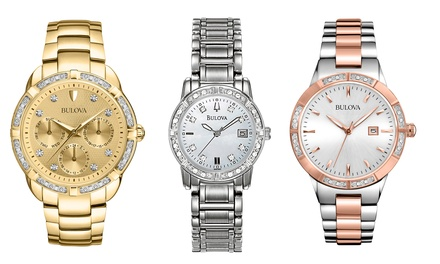 Bulova Women's Diamond-Accented Watches (Refurbished)