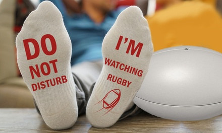 Watching Rugby Socks