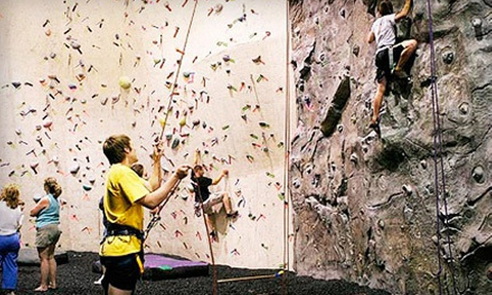 Kendall Cliffs - Boston: Rock-Climbing Package with an Introductory Lesson for Two or a Family at Kendall Cliffs (Up to 79% Off)