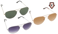 1 ou 2 paire de lunettes Aviator ou en bambou avec protection UV 400