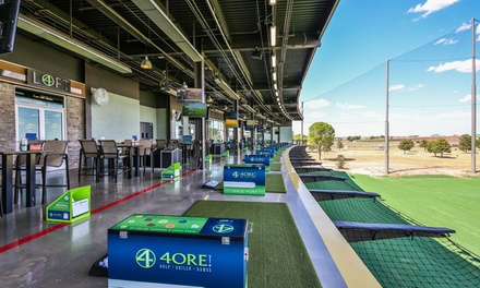 Tee Box Game Play / Driving Range Time at 4ORE! Golf (Up to 50% Off). Three Options Available.