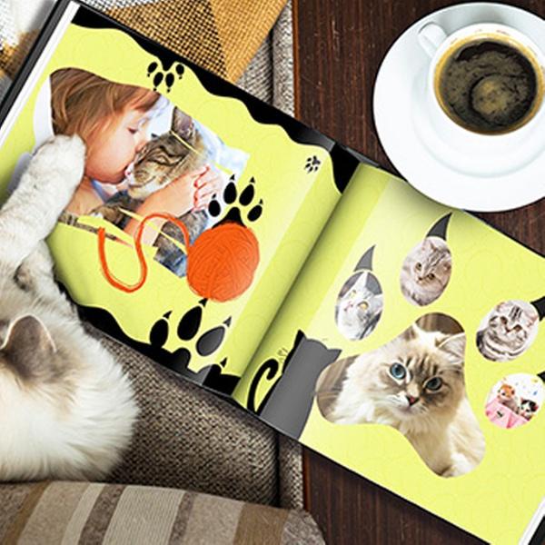 06cd342769d9 Custom Dog or Cat Photo Book - Printerpix | Groupon