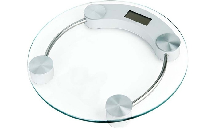 Coby Round Digital Gl Bathroom Scale