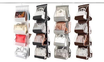 Hanging Handbag Organizer with 8 Easy-Access Transparent Pockets