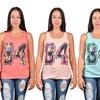 Jada Women's Chiffon Back Lace Tops