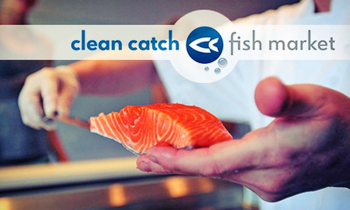 Clean Catch Fish Market - Myers Park: $10 for $20 Worth of Fresh Seafood at Clean Catch Fish Market